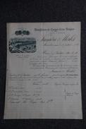 Lettre Ancienne Publicitaire ,MUSSIDON - LUMIERE Et MERLET, Manufacture De Cierges, Cires Et Bougies. - 1800 – 1899