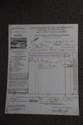 Facture Ancienne  ,BORDEAUX - Compagnie Fermière De L'Etablissement De VICHY. - 1800 – 1899
