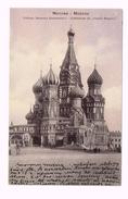 "Moscow - Mocква - Russia - Cathédrale De ""Vassili Blajenoi"" 1910 - Timbre/Stamp - Russie"