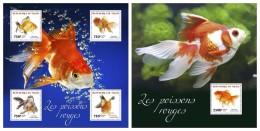NIGER 2014 - Gold Fishes - YT 2430-3 + BF315; CV = 32 € - Niger (1960-...)
