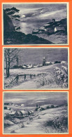 """Lot De 3 CPA Illustrateur A GAILLARD """" Paysages D'hiver Et Mer """" - Illustrators & Photographers"""