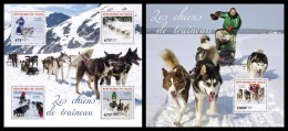 NIGER 2014 - Sledge Dogs - YT 2446-9 + BF319; CV = 29 € - Other Means Of Transport