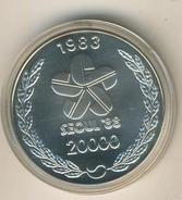 Süd Korea 1983, 20000 Won Olympiade Seoul 88, Ringer, 925 Silber,PP    (033) - Korea, South