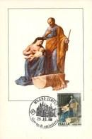 ITALIE CARTE MAXIMUM NUM.YVERT 1798 ART PEINTURE TABLEAU DE CELOMMI - Maximumkarten (MC)