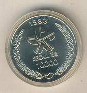Süd Korea 1983, 10000 Won Olympiade Seoul 88, Tempel, 925 Silber,PP    (034) - Korea (Süd-)
