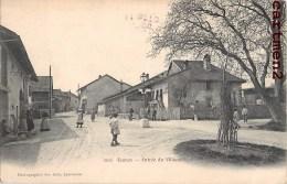 FOUNEX ENTREE DU VILLAGE ANIMEE CANTON DE VAUD SUISSE + CACHET AMBULANT N°5 - VD Vaud