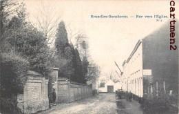 BRUXELLES GANSHOREN RUE VERS L'EGLISE BELGIQUE 1900 - Ganshoren