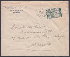 Morroco 1955, Cover Mazagan To Marseille W./postmark Mazagan - Marruecos (1891-1956)