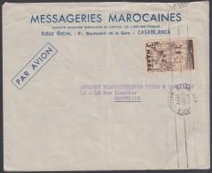Morocco 1942, Airmail Cover Casablanca To Marseille W./postmark Casablanca - Marruecos (1891-1956)