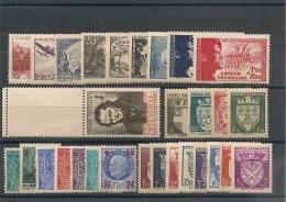 FRANCE 1942 Année Complète N Y/T: 538/567** Côte: 98 € - 1940-1949
