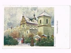 Wesołych Świąt - Edition Du Salon Des Peintres à Cracovie / Krakow/Cracow/ Stamp/timbre - Pologne