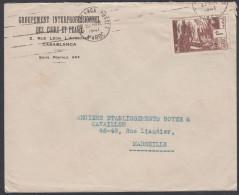 Morocco 1940, Airmail Cover Casablanca To Marseille W./postmark Casablanca - Marruecos (1891-1956)