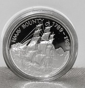 Münze/Coin Silber/Ag 925 Pitcairn Islands, Meuterei Auf Der Bounty/Mutiny On Ship Bounty 1789-1989, 1 Dollar - Isole Pitcairn