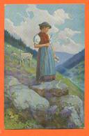 """CPA Illustrateur FR REISS """" Schwarzwalder Leben """" Jeune Bérgère Et Chevre  Suisse - Illustrators & Photographers"""