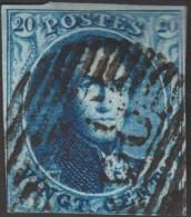 Belgique 1849 COB 4. Oblitération P 82, Menin (??) - 1849-1850 Medallions (3/5)
