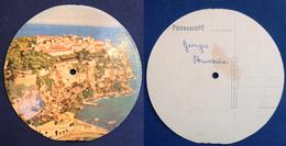 45 Tours Souple Carte Postale PHONOSCOPE - MONACO Le Rocher - Chanson : Gondolier - Années 50 - Formats Spéciaux