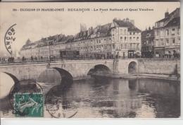 25 - BESANÇON - Le Pont Battant Et Quai Vauban Animés - Tramway - Besancon