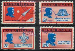 Sanda Island 1967 J F Kennedy Venus Rocket Scout Jamboree Set  Used
