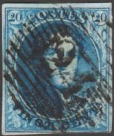 Belgique 1851 COB 7A. Oblitération P 24. Bruxelles - 1851-1857 Médaillons (6/8)