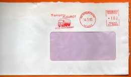 88 REMIREMONT  TRANSPORTS 1983  Lettre Entière 110x220 N° EMA Y 362 - Freistempel