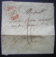 Belgique 1835 Lettre De Mons Pour Tournai (Tournay) : Voir Photos Pour Le Détail - 1830-1849 (Belgique Indépendante)