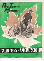Moto Revue Technique Motocycliste N°104 D´octobre 1955 Salon 1955 Spécial Scooter - Auto/Motorrad