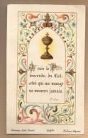 Image Pieuse Religieuse Holy Card Je Suis Le Pain Descendu Du Ciel - Ed Bonamy 209 Bis - Devotieprenten