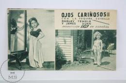 Old 1934 Cinema/ Movie Advtg Image -Movie: Bright Eyes, Actors: Shirley Temple, James Dunn, Jane Darwell, Judith Allen - Cinema Advertisement