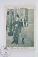 Old Trading Card / Chromo Topic/ Theme Cinema/ Movie: Modern Times - Actors: Charlie Chaplin & Paulette Goddard - Documentos Antiguos
