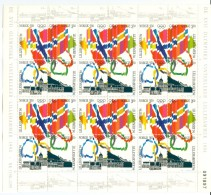 NORWAY 3 Sheets Of 24 Stamps Mint Without Hinge