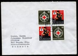 A4298) Bund Brief Von Randegg 13.6.53 Mit Mi.162 (2), 164 (2) - [7] Federal Republic