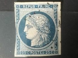 FRANCE  YT 4.  Oblitéré. 1850. Côte 60.00 € - 1849-1850 Ceres