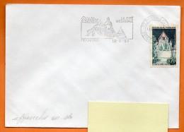 77 PROVINS  LA CITE MEDIEVALE  18 / 8 /1999 ( Flamme Concordante )   Lettre Entière  N° W 445 - Marcophilie (Lettres)