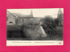 51 MARNE, CHAMPGUYON Après Le Bombardement, Guerre 14-18, (E. L. D.) - Guerre 1914-18