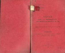 ANCIEN MANUEL MILITAIRE NOTICE SUR LA PRÉPARATION DES PROJECTILES De 1950 - Equipement