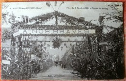 PM 500 * 6 MAUVES-sur-HUISNE Fête Du 2 Octobre 1921 - Centre Du Bourg - France