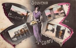 CPA - Grece, Souvenir Di CORFU - (  Fille Dans Un Papillon )