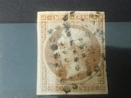 FRANCE  YT 13B.  Oblitéré. 1860. Côte 30.00 € - 1853-1860 Napoleon III