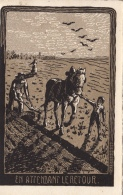 Labours Avec Cheval De Trait ! En Attendant Le Retour. De Leysin (Suisse) 1912 - Attelages