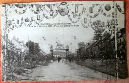PM 500 * 4 MAUVES-sur-HUISNE Fête Du 2 Octobre 1921 - Place Du Champ De Foire - France