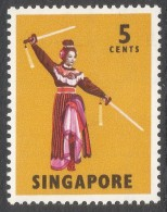 Singapore. 1968-73 Definitives. 5c MH. P14 SG 103 - Singapore (1959-...)
