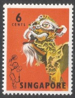 Singapore. 1968-73 Definitives. 6c MH. SG 104 - Singapore (1959-...)