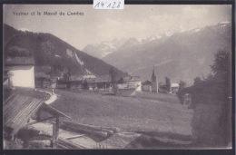 Verbier Et Le Massif Du Combin ; Chemin Et Maisons Autour De L'église - Ca 1920 (14´128) - VS Valais