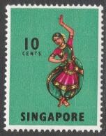 Singapore. 1968-73 Definitives. 10c MH. P14 SG 105 - Singapore (1959-...)