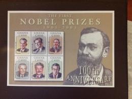 Ghana First Nobel Prizes 2002 Sheet MNH - Ghana (1957-...)