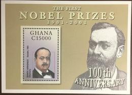 Ghana 2002 First Nobel Prizes Minisheet MNH - Ghana (1957-...)