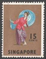 Singapore. 1968-73 Definitives. 15c MH. SG 106 - Singapore (1959-...)