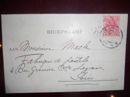 Pays Bas , Carte De 1903 Pour Paris - Periode 1891-1948 (Wilhelmina)