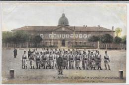 Cpa Macon - L' Hôpital Et Le Terrain D'exercice . - Macon