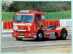 Photo Publicitaire Camion MERCEDES 1834 S - Le Camion De Slim BORGUDD (Suède) Tiger Racing Team ESSO - EXXON - Camions